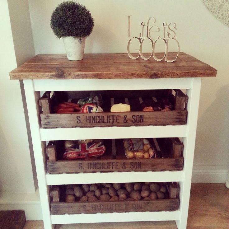 Shabby Chic Kitchen Shelves: Best 25+ Vegetable Storage Ideas On Pinterest