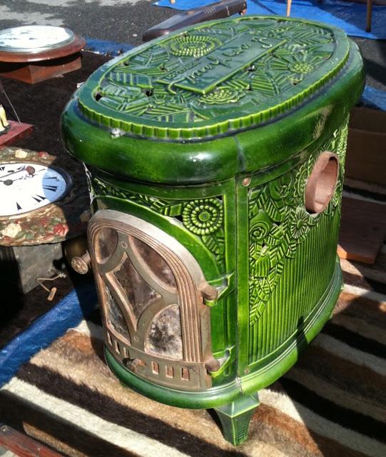 French enamel stove