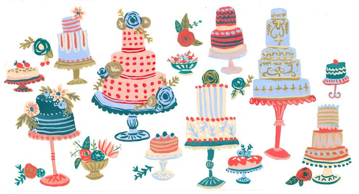 Cakes Pattern Design