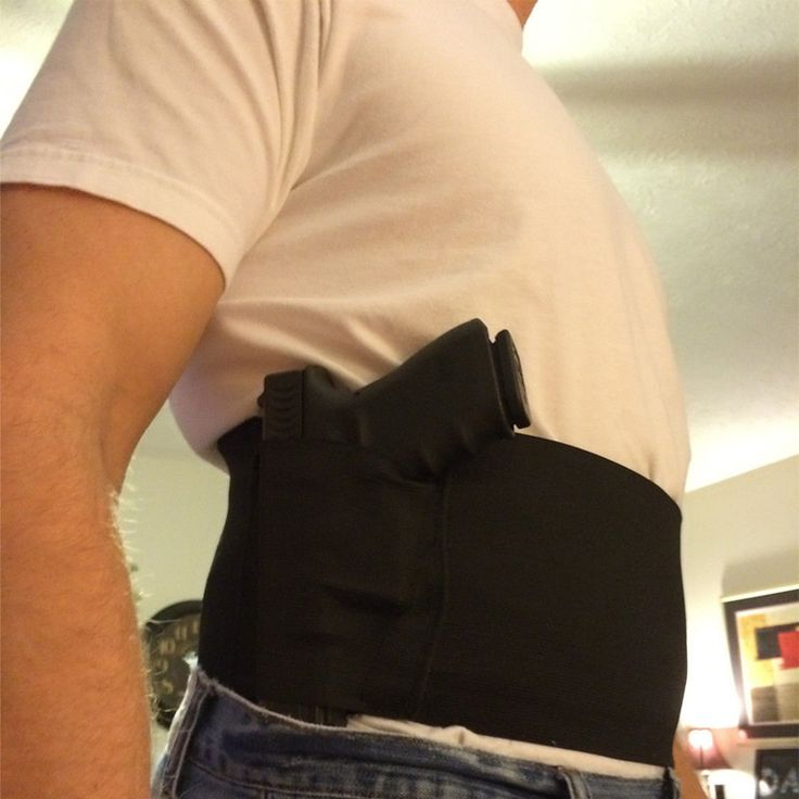 Cheap Concealed Carry Belly Band Gun Pistol Holster + 2 Mag Pouches WAIST For Colt 1911/hk usp compact / P226 /Beretta M9 M92fs