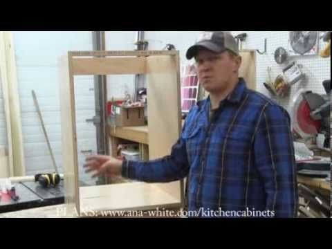 How to Build Kitchen Cabinet Carcass - Learn how you can easily build your own kitchen cabinet carcasses using your Kreg Jig and Shelf Pin Jig!