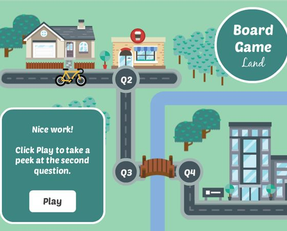 Looking for a way to gamify your next quiz or assessment? This Storyline board game template is just what you need.