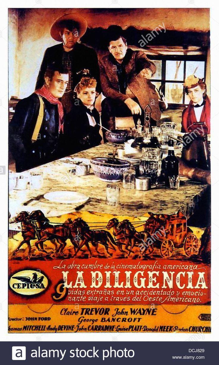 Stagecoach - Movie Poster - Directed By John Ford - United Artists Stock Photo, Royalty Free Image: 59408449 - Alamy