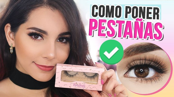 CÓMO PONER PESTAÑAS POSTIZAS FÁCIL! (PASO A PASO) Tips ♥ Jimena Aguilar