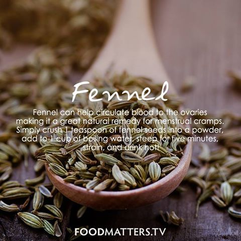Simply crush 1 teaspoon of fennel seeds into a powder, add to 1 cup of boiling water, steep for five minutes, strain, and drink hot! What's your way of using fennel?  www.foodmatters.tv