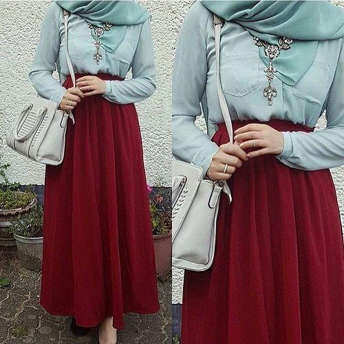 #Hijab #Red #blue