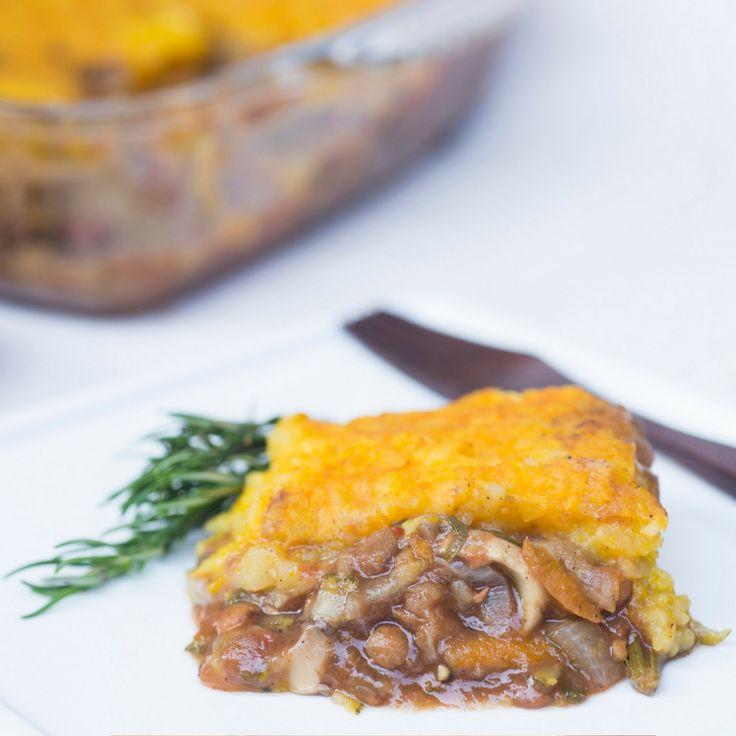 Pumpkin & Potato Cottage Pie.  Click Visit for the recipe on our blog.