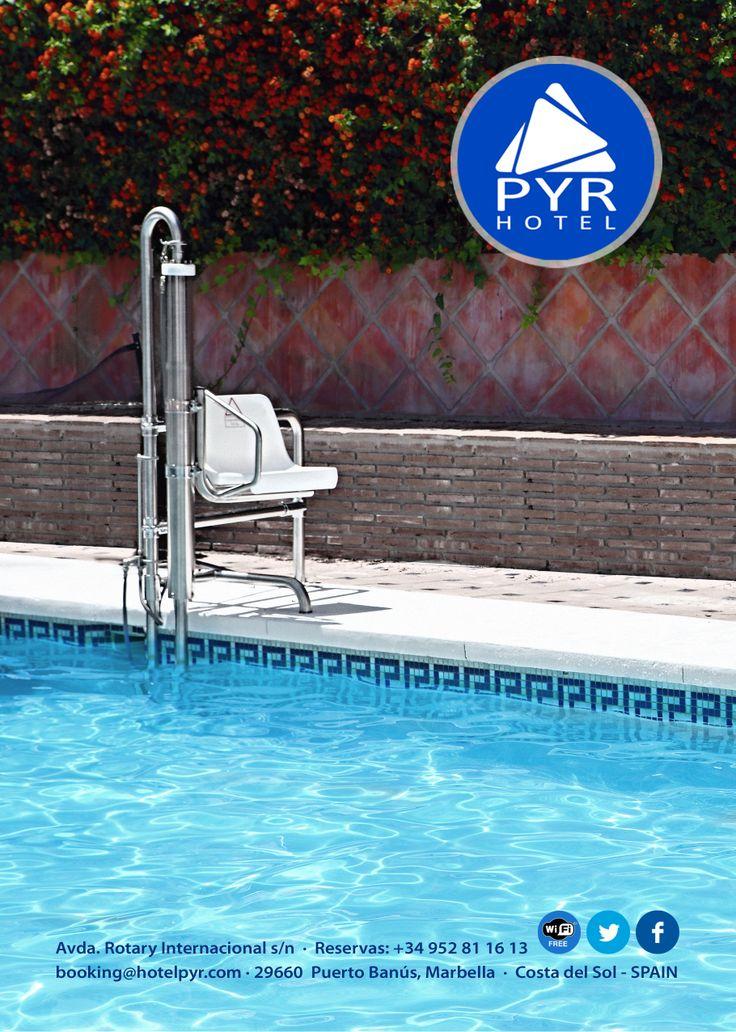 Hotel PYR Marbella, pool hoist (lift), Puerto Banus, Marbella, Spain