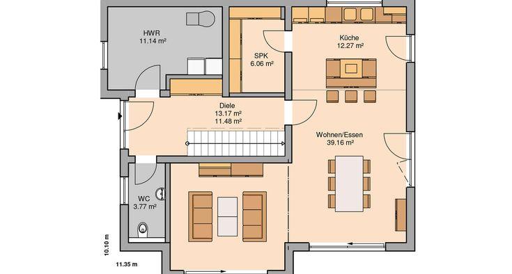 79 best Dream house plans images on Pinterest House floor plans - offene kuche wohnzimmer grundriss
