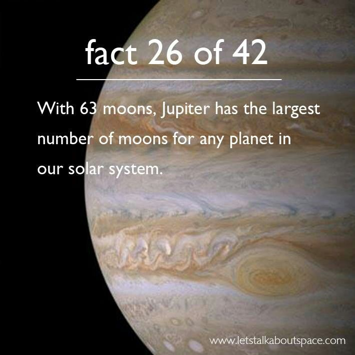 Jupiter also has the largest moon Ganymede.