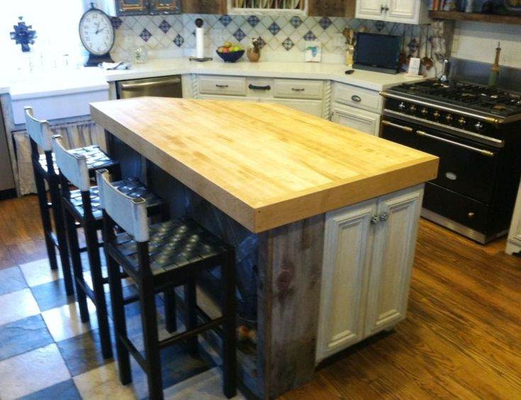 die besten 25 butcher block island top ideen auf pinterest holzplatten f r die k che budget. Black Bedroom Furniture Sets. Home Design Ideas