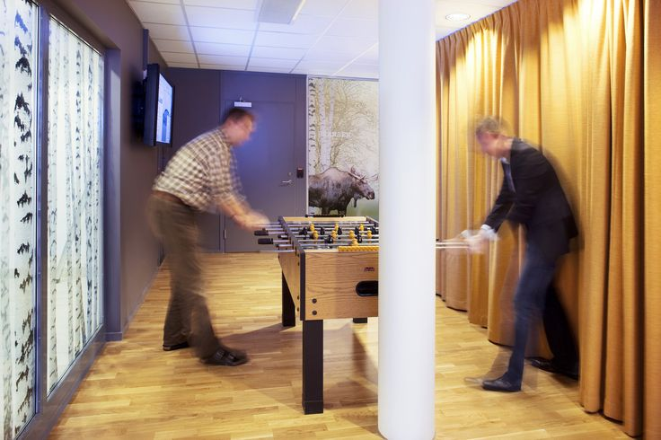 Google Office Stockholm | Reception Area with Games #GoogleStockholm, #Office, #Games, #Play
