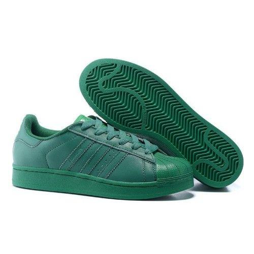 Uomo/Donna Adidas Originals Superstar Supercolor PHARRELL WILLIAMS Scarpe  Blaze Verde S83390
