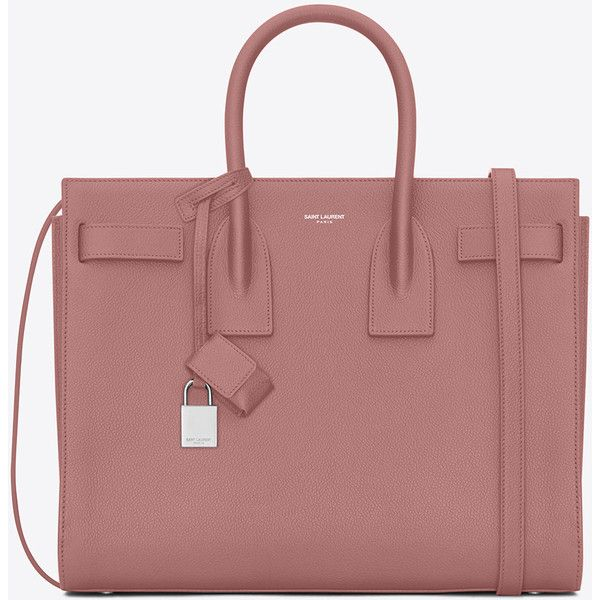 Saint Laurent Classic Small Sac De Jour Bag In Old Rose Grained... (46,105 MXN) ❤ liked on Polyvore featuring bags, handbags, shoulder bags, old rose, red shoulder handbags, strap purse, rosette handbag, accessories handbags and red key ring