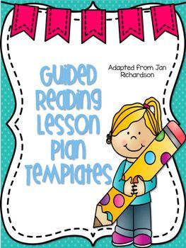 guided reading lesson plan template jan richardson