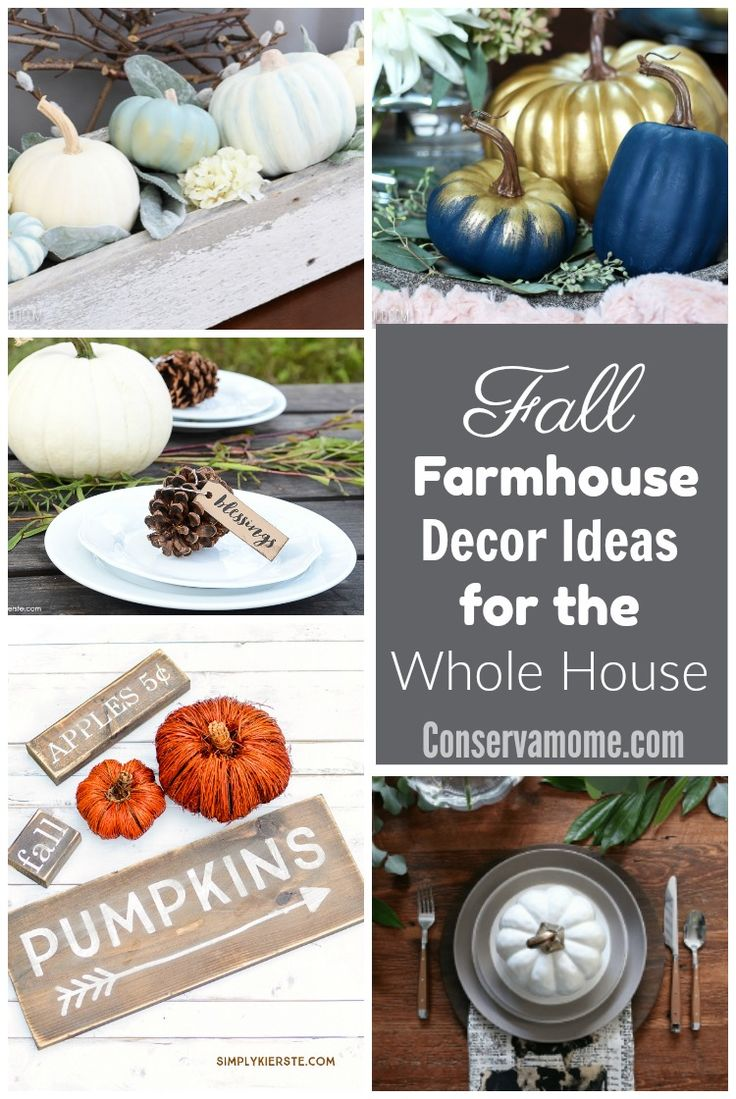 Deck the halls how to decorate on a budget family dollar - Fall Farmhouse Decor Ideas For The Whole House