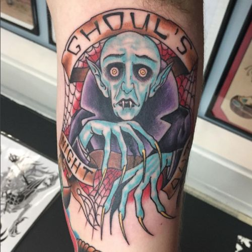 A real spooky Ghouls Night Out Misfits tattoo just in time for...