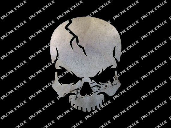 Skull 07 Metal Stencil Wall Art Garage Hot Rat Rod ...