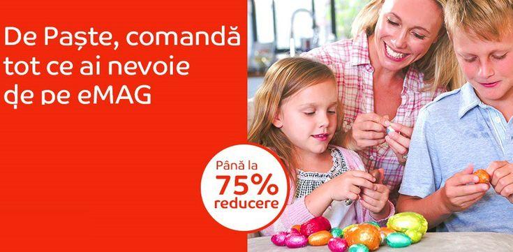 Oferta de Paste de la eMag aduce reduceri de panaƒ la 75%