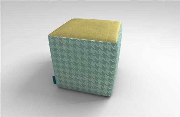 Designer Velvet Cube Stool. Available in over 70 different velvets by TheVelvetlab®