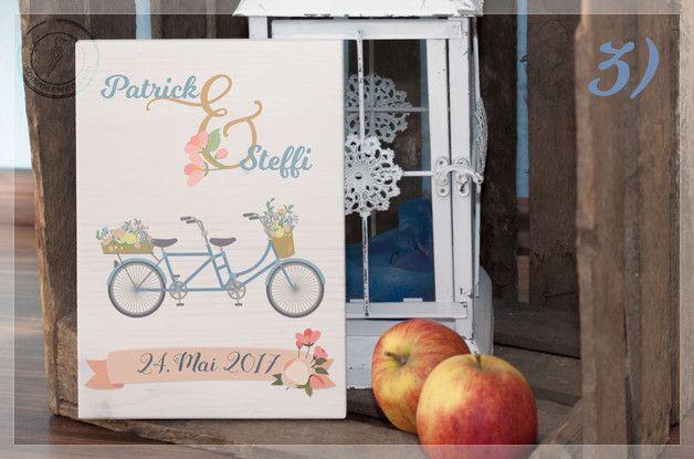 Wanddeko - Hochzeitsgeschenk auf Holz - Zu zweit durchs Leben - ein Designerstück von Sommerweg bei DaWanda