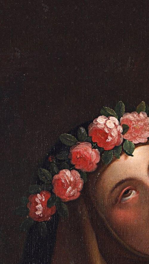 Saint Rose of Lima (detail), José del Pozo, ca. 1820