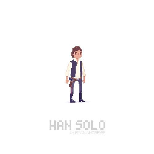 Han Solo with Leia as x stitch for Brad and Megan's wedding