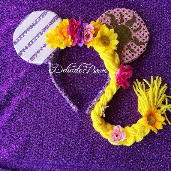 Disney Rapunzel Ears; tangled ears; rapunzel ears; princess ears; disney ears; headbands; disneyland; minnie mouse ears