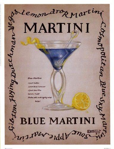 Vintage alcohol poster