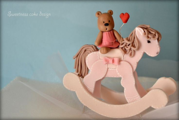 How to make rocking horse cake topper