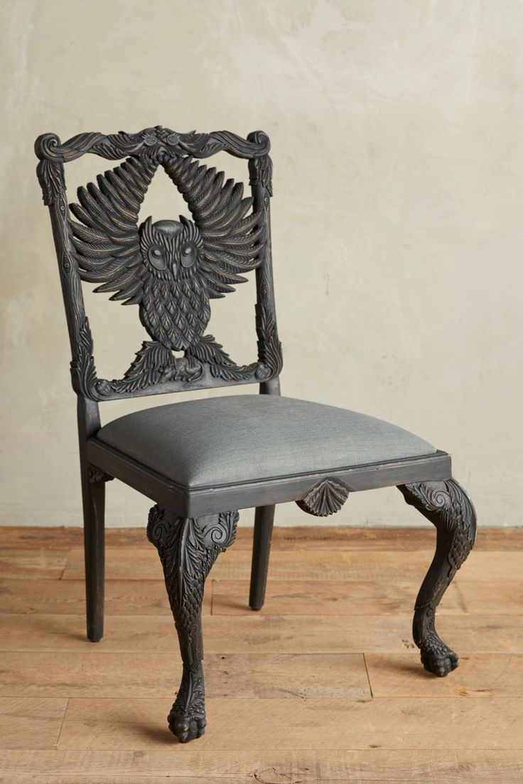 Handcarved Menagerie Owl Dining Chair In 2019 Dream Home