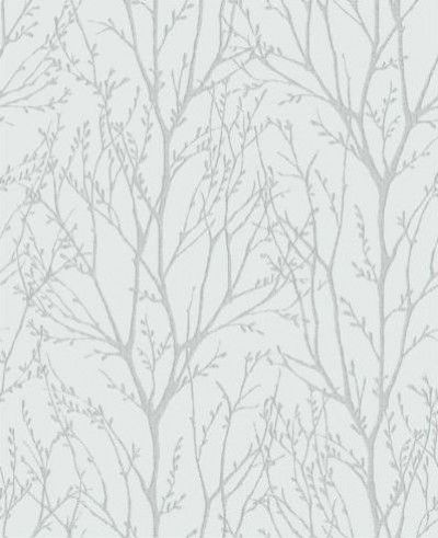 Twigs (31144) - Albany Wallpapers - A pretty all over twig design in silver on pale blue.  Available in other colours.  Please request sample for true colour match.