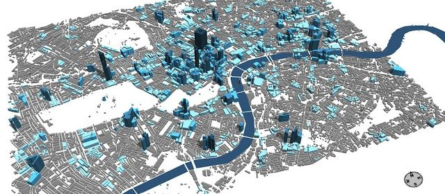 en-topia: TweetCity: Building London using Real time feeds and CityEngine