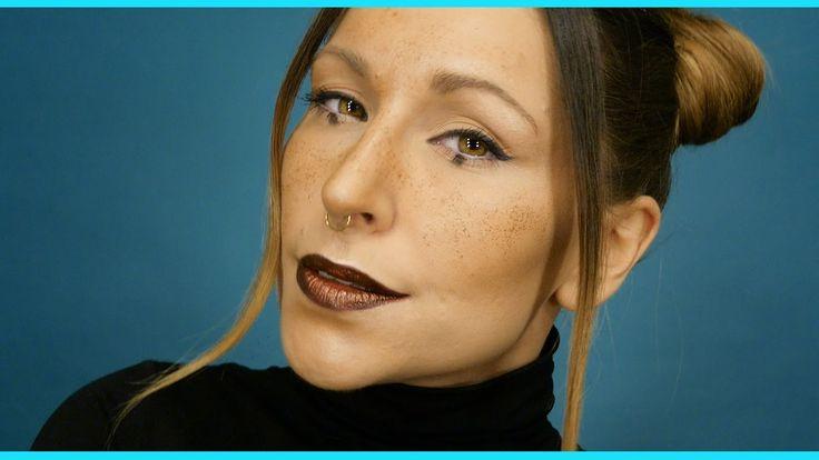 Makijaż z Utnicką : Jasne brwii & sztuczne piegi & dots eyemakeup / Szal...