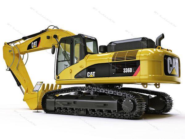 3dsmax hydraulic excavator cat 336d - Hydraulic Excavator Caterpillar CAT 336D L by iljujjkin