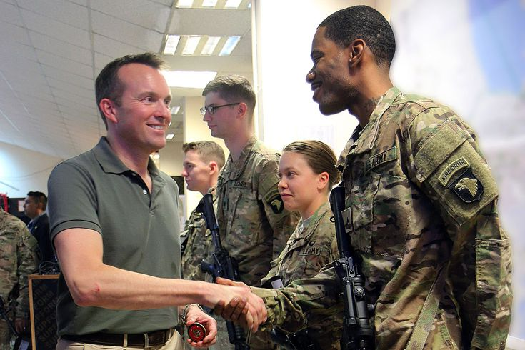 U.S. Secretary of the Army Eric Fanning visits Soldiers in Iraq