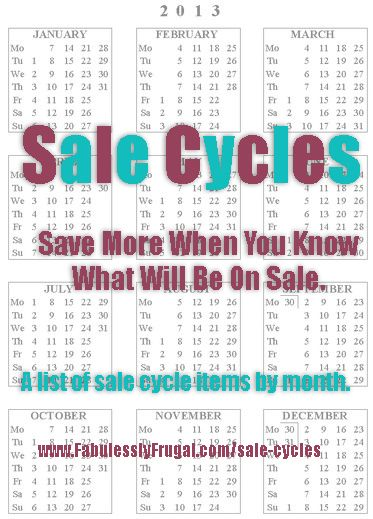 Sale Cycle Calendar. Know the best time to buy!