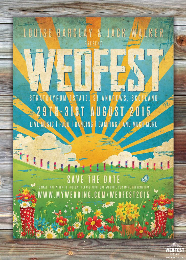 Wedfest Poster Wedding save the dates http://www.wedfest.co/wedding-save-the-date-cards/