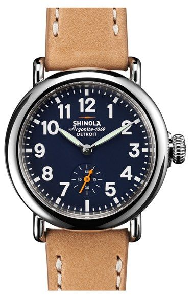 Shinola 'The Runwell' Leather Strap Watch, 36mm available at #Nordstrom