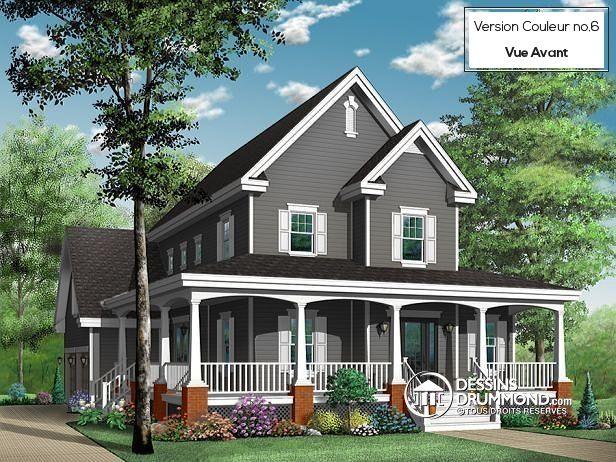 239 best images about modèles de maison champêtre ou plan de ...