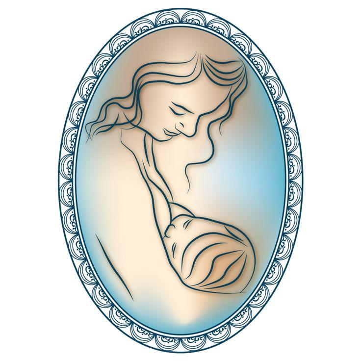 Régies, elegáns, kedves... Logó - Védőnő, szoptatási szaktanácsadó részére