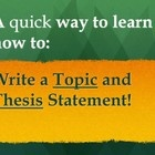 write a thesis paragraph