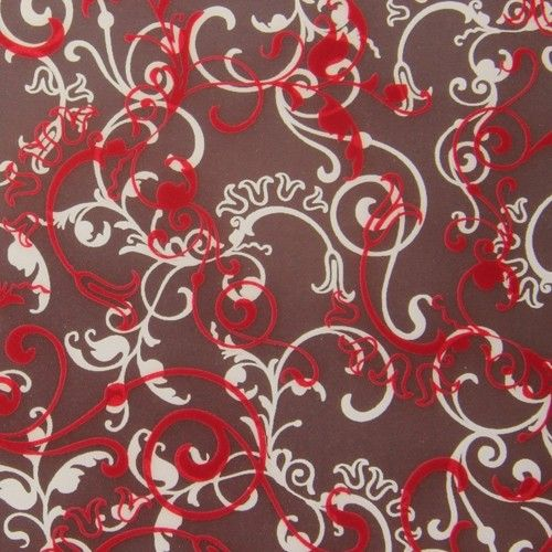 Flourish, chocolate transfer sheets x2 by Chocolate Trading Co