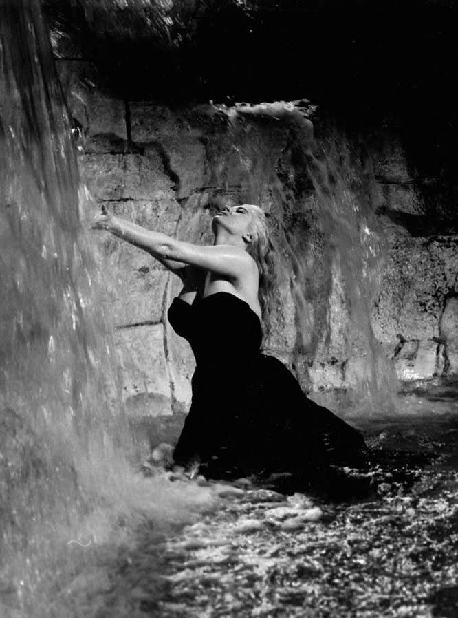 """Anita Ekberg in Federico Fellini's """"La Dolce Vita."""" 1960"""