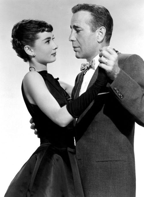 Audrey Hepburn and Humphrey Bogart for 'Sabrina', 1954.