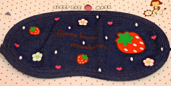 Strawberry sleep eye mask