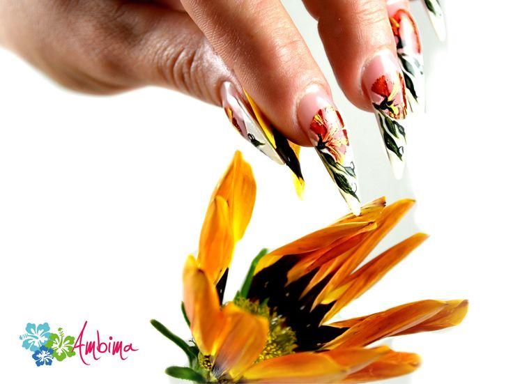 Flower painted stilettos