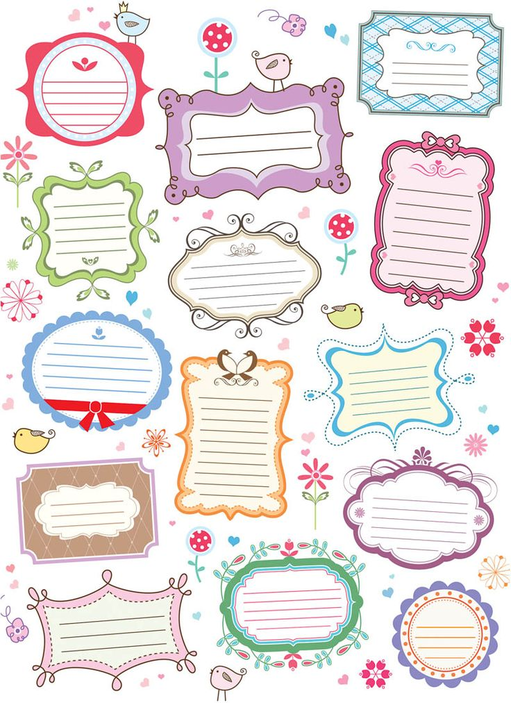 ETIQUETAS Colorido decorativas vector