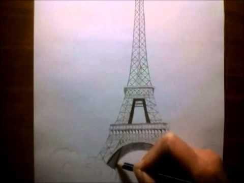 Deze eiffeltoren heb ik gebruikt voor de tekening van het meisje die naar de eiffeltoren kijkt.