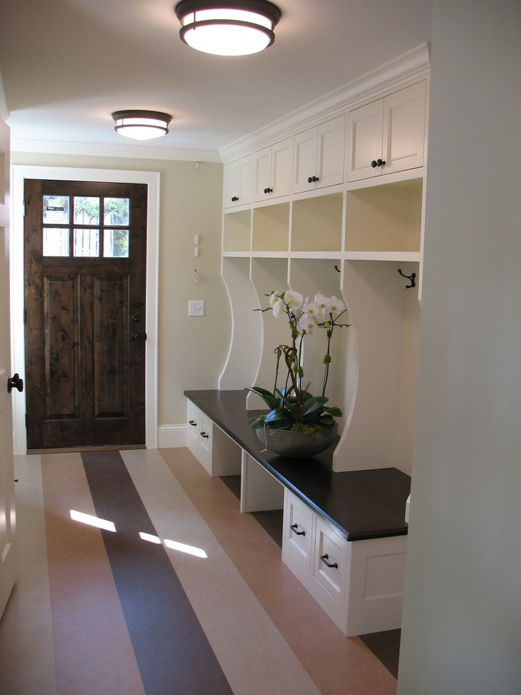 Beautiful Closet Mudroom Design With Bench Storage, Coating Rack And  Cabinet In White Wooden Materials Part 48
